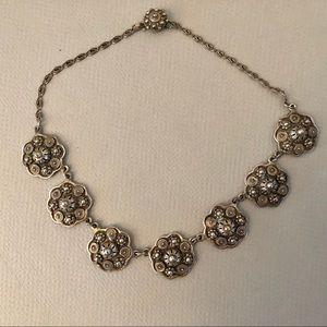 Gorgeous vintage Etrusceana silver tone necklace